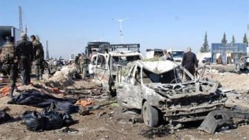 Four suicide bombers hit Syria's Raqqa