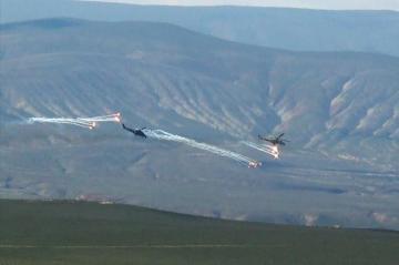Проведены летно-тактические занятия вертолетных подразделений ВВС