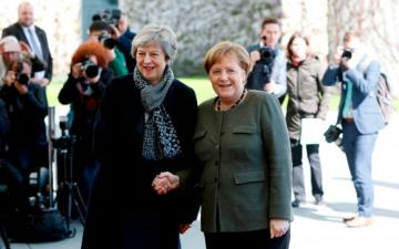British PM May met with German Chancellor Merkel