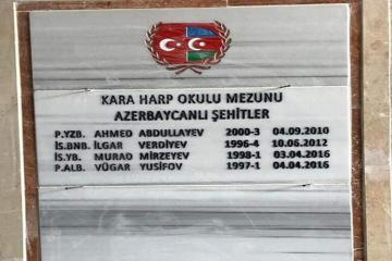 Turkish Military Academy eternalized memory of Ilgar Verdiyev, Murad Mirzayev and 2 more martyred graduates