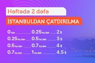 Türkiyədən sifarişlər 1 kq - 4.5$-a daşınır - [color=red]LİMAKDAN ENDİRİM[/color]