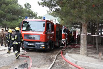 МЧС распространило сообщение в связи с пожаром в здании общежития для вынужденных переселенцев
