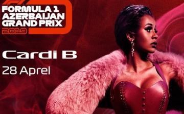 Карди Би даст концерт в Баку в рамках гоночного уик-энда Формулы 1