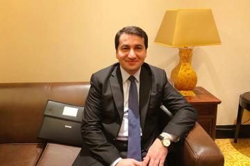 """Hikmət Hacıyev: """"Azərbaycan """"Bir kəmər, bir yol"""" təşəbbüsünü tam dəstəkləyir"""""""