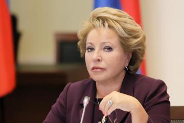 """Valentina Matviyenko """"Dostluq"""" ordeni ilə təltif edilib"""