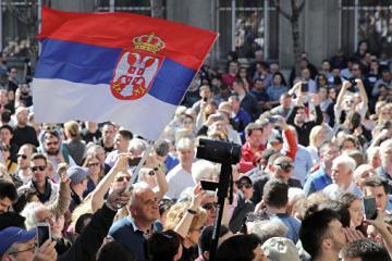 Belqradda Serbiya prezidenti əleyhinə aksiya keçirilir