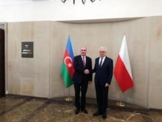 Azerbaijani FM meets his Polish counterpart