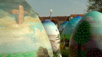 Giant handpainted Easter eggs unveiled in Croatian town