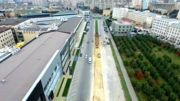 Nərimanov rayonunun küçələrində müasir yol infrastrukturu yaradılır