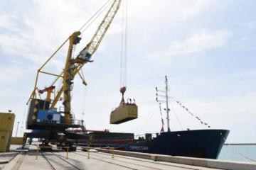 Qazaxıstanın ilk fider gəmisi Bakıya yola salınıb