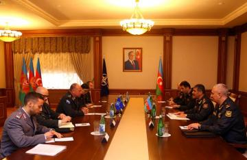 Azerbaijan Defence Minister meets Director General of NATO's International Military Staff
