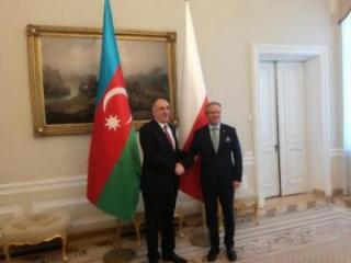 Elmar Məmmədyarov Polşa Prezidenti Kabinetinin rəhbəri ilə görüşüb