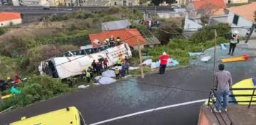 At least 28 dead after tourist bus crashes in Portugal's Madeira