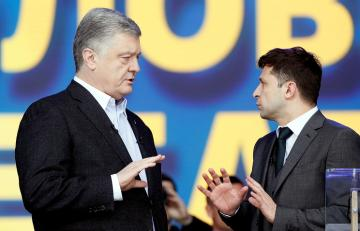 Poroshenko-Zelensky presidential election debate begins at Kiev's Olympic stadium