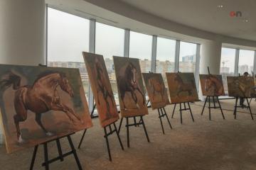 Moskvada Qarabağ atlarına həsr olunan sərginin açılışı olub