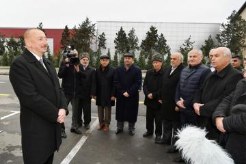 Ильхам Алиев принял участие в открытии автомобильной дороги Мардакян-Гала