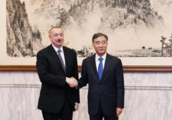 Prezident İlham Əliyev Çin Kommunist Partiyası Mərkəzi Komitəsi Siyasi Bürosunun üzvü ilə görüşüb