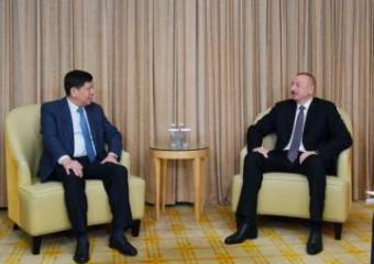 Президент Азербайджана встретился с гендиректором Корпорации CETC