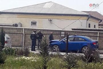 Sabunçuda iki avtomobil toqquşub, bir nəfər xəsarət alıb