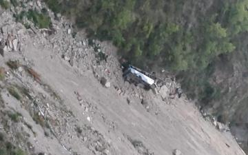 At least 12 people die as private bus falls Into Gorge in India