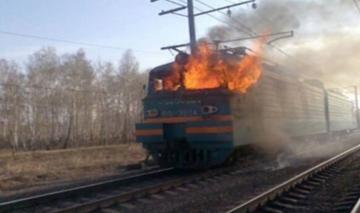 В Азербайджане загорелся движущийся поезд