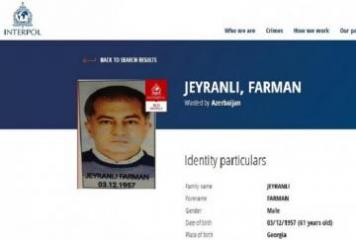 Farman Jeyranli declared wanted via Interpol