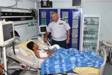 Erməni təxribatının qarşısını alarkən yaralanmış hərbçi əməliyyat olunub