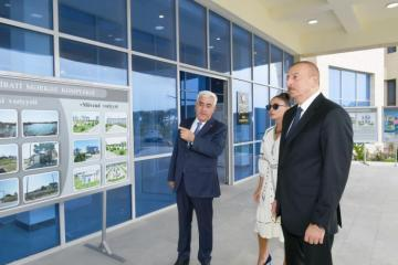 Azerbaijani President attends the opening of a new administrative building of the Pirallahi DEP