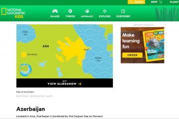 Устранена искаженная в журнале National Geographic Kids информация о Нагорном Карабахе
