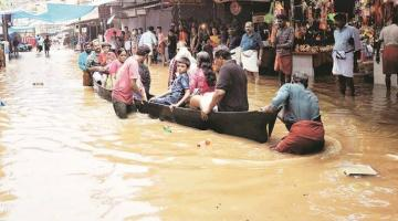 Heavy rain leads to flooding in India; red alert in 4 districts