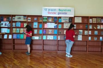"""Milli Kitabxanada """"12 avqust - Beynəlxalq Gənclər günüdür"""" adlı sərgi açılıb"""