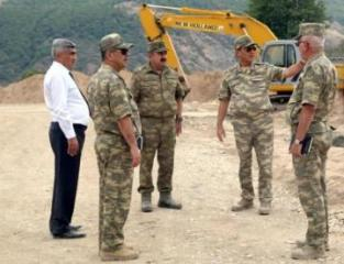 Minister of Defense visits military units being under construction on frontline zone  - [color=red]VIDEO[/color]