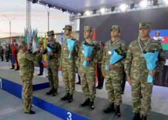 "Azerbaijani military doctors were awarded a cup and a medal at the ""Military Medical Relay Race"" contest"