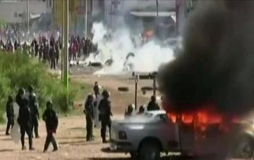 Mexikonun mərkəzində 30-dan çox iğtişaşçı və polis yaralanıb