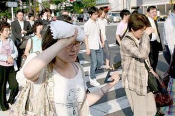 Yaponiyada bir həftədə istidən yeddi nəfər ölüb