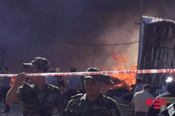 Fire breaks out in construction materials market in Baku - [color=red]PHOTO[/color] - [color=red]VIDEO[/color] - [color=red]UPDATED[/color]