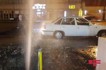 На проспекте Бабека прорвало водопроводную трубу - ФОТО - ВИДЕО