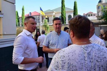 В посольстве Украины в Азербайджане отметили национальный праздник этой страны - День флага