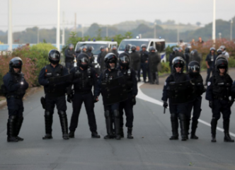 French police use water cannons, tear gas on anti-G7 protesters