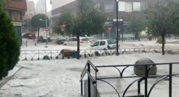 Chaos in Madrid as intense hailstorm and extensive rainfall hit the city