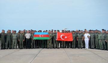 """Next group of Turkish staff participating in """"TurAz Qartalı - 2019"""" exercises arrive in Azerbaijan - [color=red]VIDEO[/color]"""