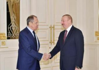 Prezident İlham Əliyev Rusiyanın Xarici İşlər nazirini qəbul edib