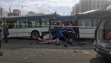 Bus with 35 passengers overturns in Kazakhstan, deaths reported