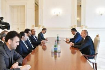 Azerbaijani President receives Iranian Minister of Communications and Information Technology