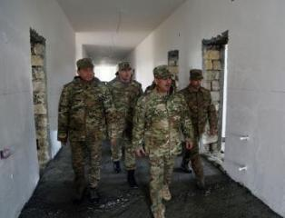 Azerbaijani Defense Minister got acquainted with construction work in military units in the frontline zone - [color=red]VIDEO[/color]