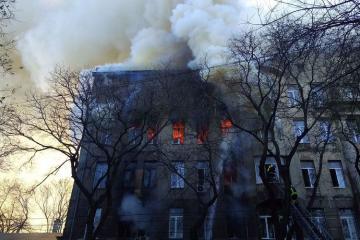 Odessa şəhər kollecində yanğın zamanı bir nəfər ölüb, 29 nəfər xəsarət alıb