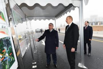 President Ilham Aliyev inaugurated 101-117th km section of Baku-Shamakhi-Yevlakh highway