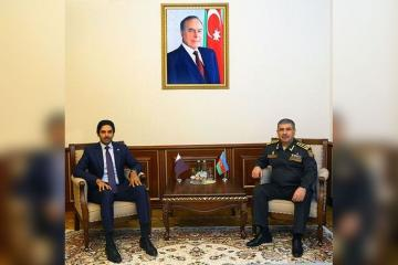 Azerbaijani Defense Minister discussed holding of Azerbaijani-Turkish-Qatari joint military exercises with ambassador