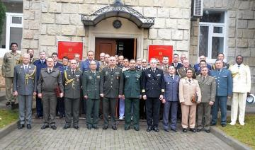 A meeting was held with the participation of military attaches and representatives of international organizations