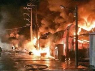 В Индии в результате пожара на заводе погибли 32 человека
